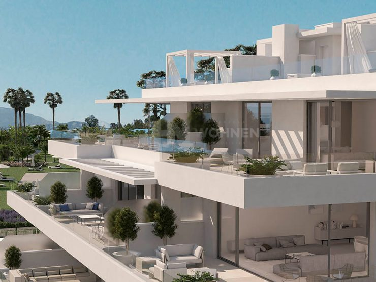 Luxury modern apartments and penthouses with outstanding views