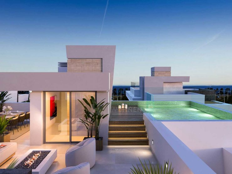 Contemporary luxury villas a few meters from the beach