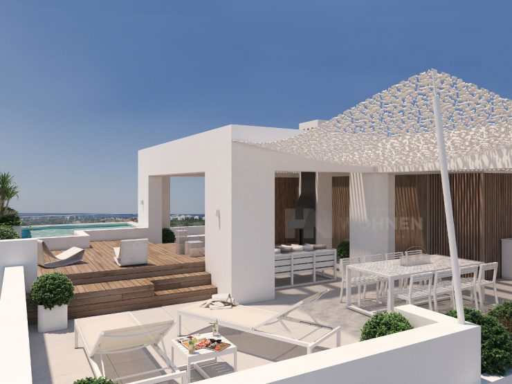 Luxury contemporary apartments with great panoramic views to the sea