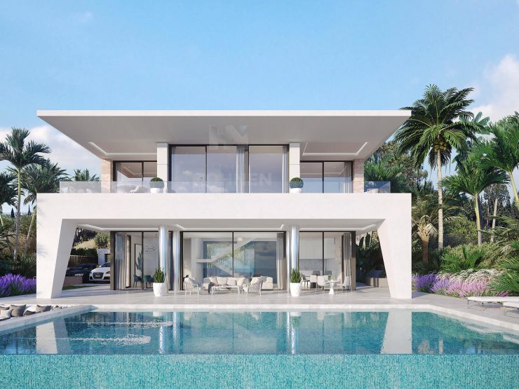 Design villas within walking distance to the beach