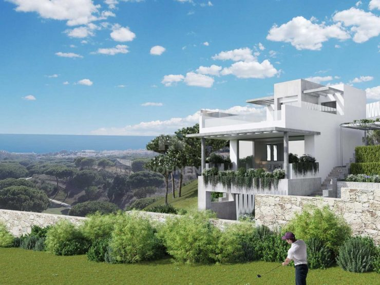 Frontline golf Townhouses with breathtaking views of the sea