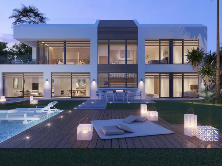 Fabulous contemporary Beachfront villa with direct access to the beach on the New Golden Mile