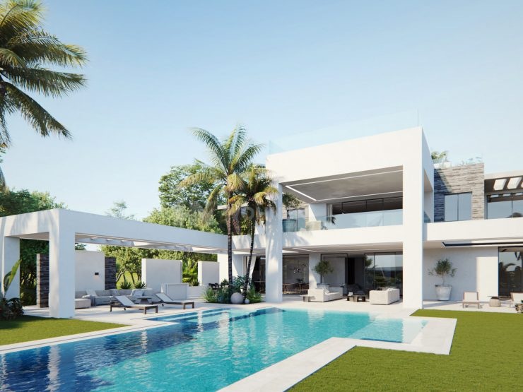 Luxury villa off plan frontline golf in Los Flamingos
