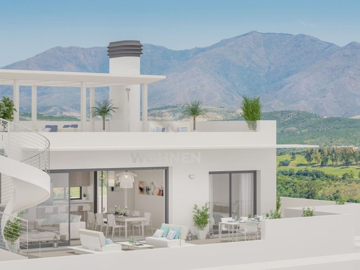 Brand new contemporary high-level housing located next to the best Golf Resort in Europe