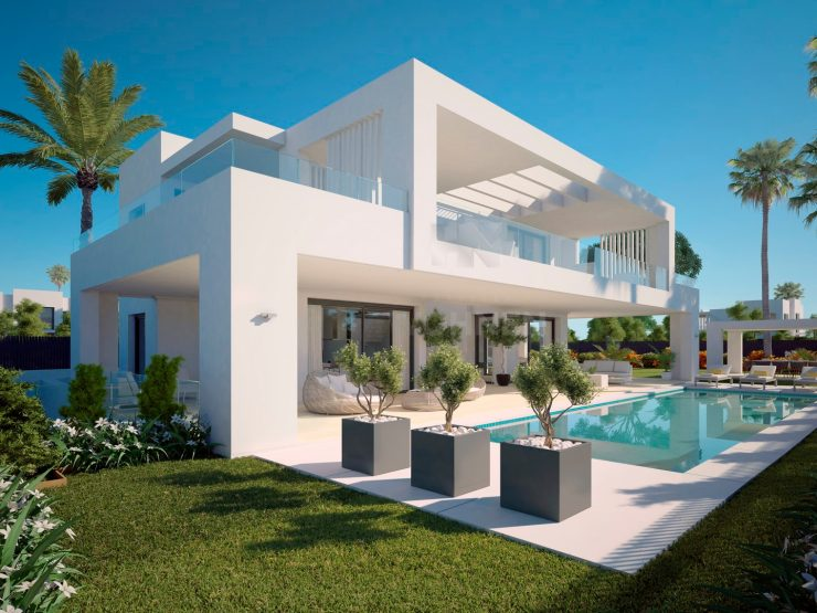 New contemporary villas with sea and mountain views
