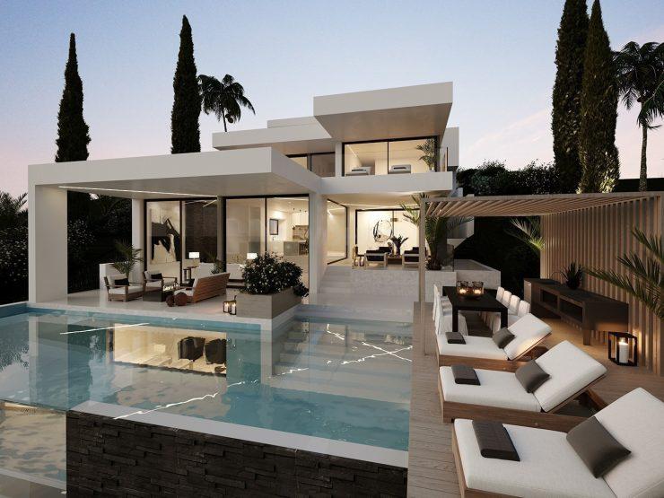 Plot with new villa project front line Aloha golf, Marbella