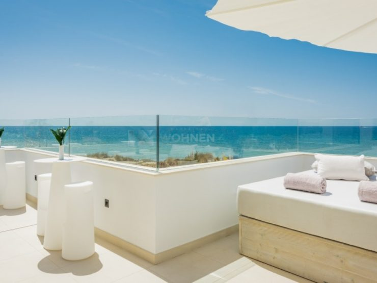 Stunning luxury villa situated on the beach at Costabella El Arenal, Marbella