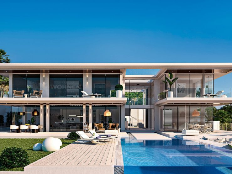 Modern villa in the new Californian style