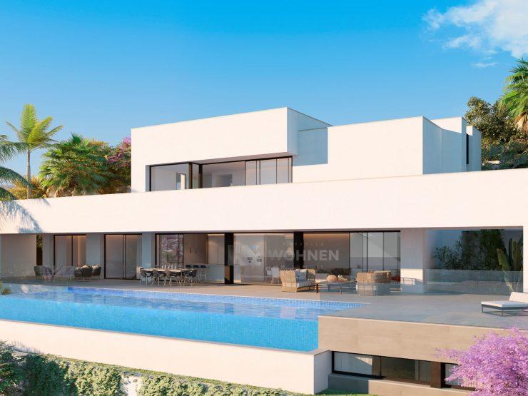 Stunning designer villa with open sea views in Los Flamingos Golf Resort