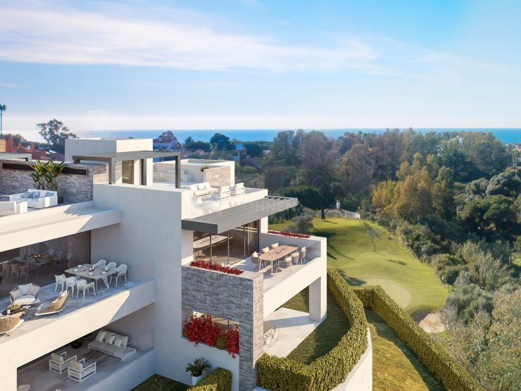 Golf apartments overlooking the sea in Cabopino – Marbella