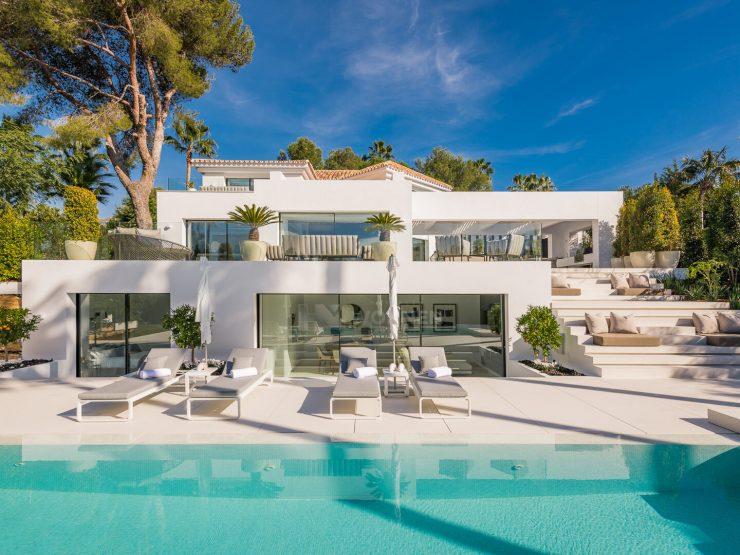 REAL ESTATE – MARBELLA – Property of the month June 2020 – Modern villa in a privileged location in Las Brisas Golf