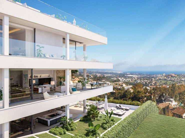 New residential project of luxury apartments with panoramic views in Marbella