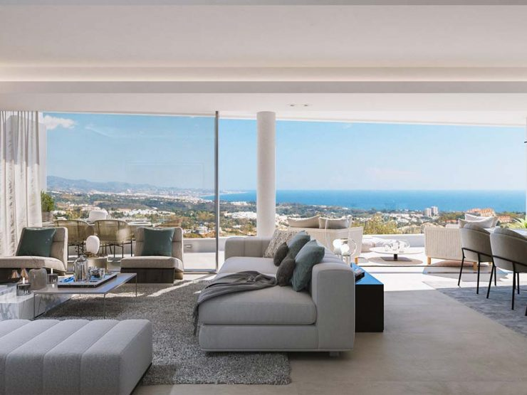 Luxurious penthouse apartment with breathtaking sea views