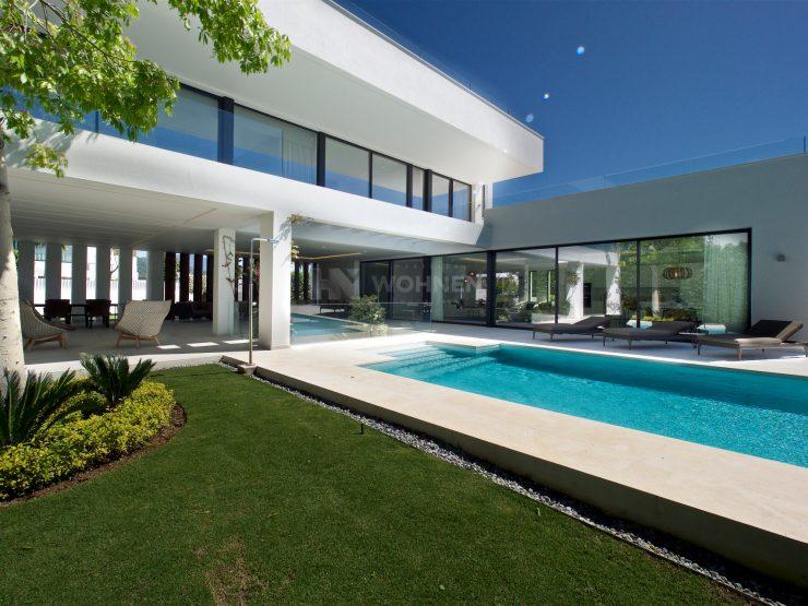 Modern luxury villas with panoramic views