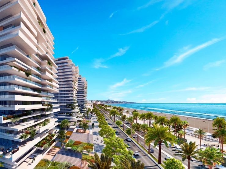 Impressive project of three skyscrapers – the Malaga Towers