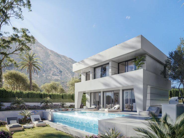 Modern spectacular villas with a fresh design