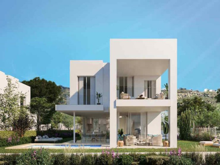 Modern villas with panoramic sea views