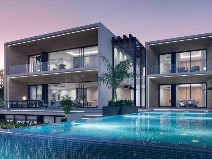 Contemporary style villa with sea views