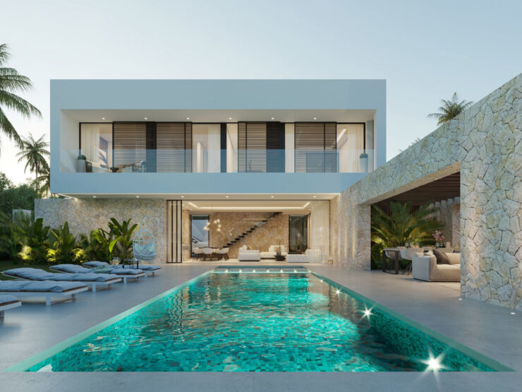 Stunning designer beachfront villas within walking distance of Puerto Banus