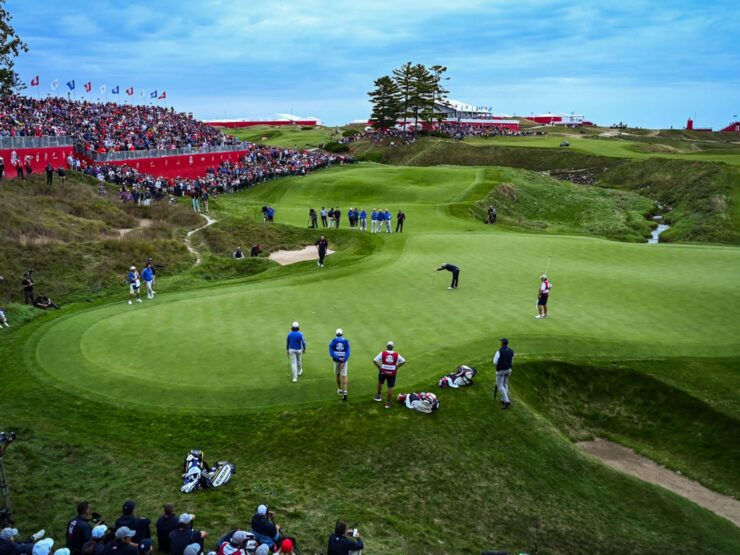 GOLF – EVENT – Ryder Cup 2021 First day America shows its teeth