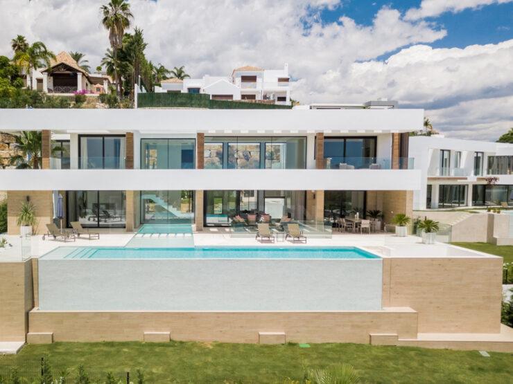 New Modern Contemporary Designer Villa with Sea & Golf views