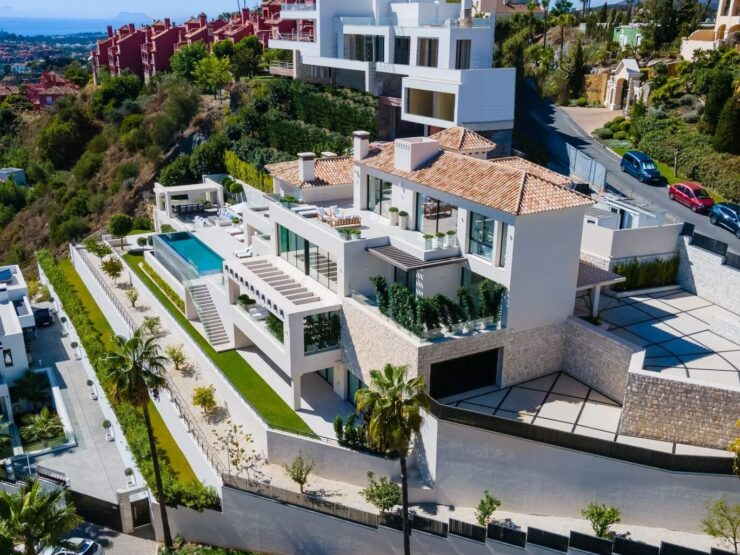 Brand new modern luxury villa with breathtaking sea and mountain views